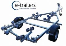 PROLINE 750kg ROLLER BOAT TRAILER - for 16ft BOAT 5.3m RIBS or 17ft DINGHY